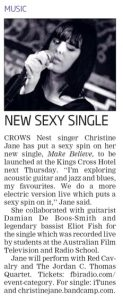 Make Believe -Single Release- Mosman Daily- 20 June 2013